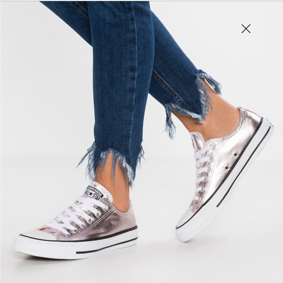 a1787c277b Converse Shoes   All Star Low Top Rose Quartz Metallic   Poshmark